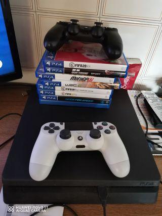 PS4 1Tb 2 mandos + 7 juegos