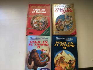 4 libros de Gerónimo Stilton: Viaje en el tiempo