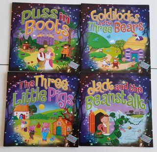 Lote 4 libros de cuentos en inglés
