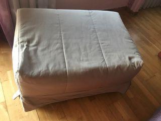 Puff cama plegable con somier plegable y colchón