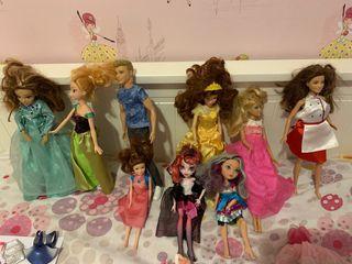 Muñecas Barbie Disney y demas