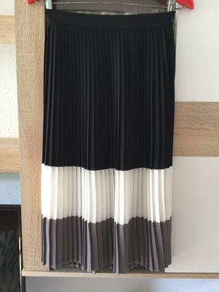 Falda midi tablas