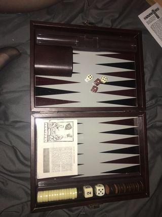 Vintage backgammon games board