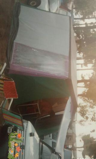 tienda de campaña con 3 habitaciones y porche
