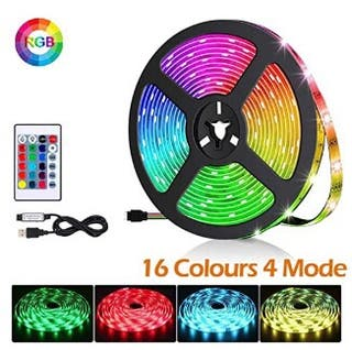 Tira de luces LED de colores, con mando. NUEVO