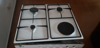 Conjunto horno y placa de gas + eléctrica