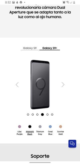 Samsung S9 PLUS 64GB (NEGRO)