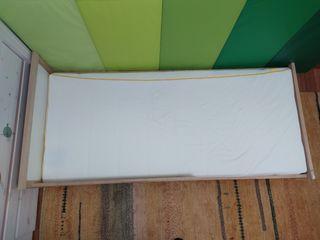 Cama 160x70 SNIGLAR de Ikea adaptada a MONTESSORI