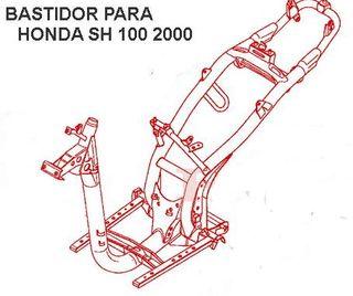 Honda SH 100 2001, Chasis documentado