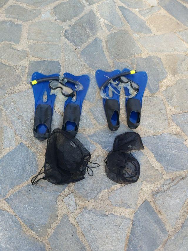 aletas y snorkel