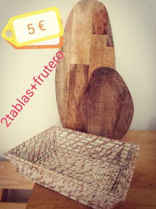 tablas madera cocina + frutero