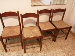 Lote de 4 sillas
