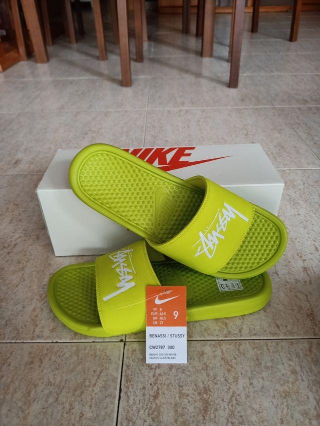 Nike Benassi X Stussy Bright Cactus