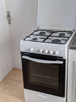 Cocina gas con horno libre instalación