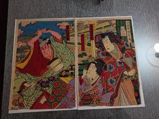 Xilografia ORIGINAL Utagawa Kunisada III 1889