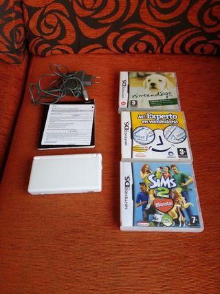 Nintendo DS Lite y 3 juegos
