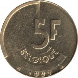 Moneda 5 francos belgas 1993