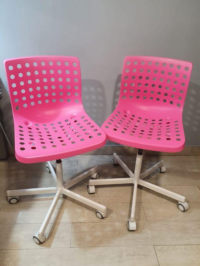 Silla o sillas despacho rosa habitación juvenil