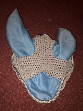 Navy Saddle pad, baby blue ear bonnet
