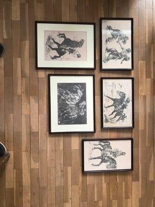 Colección de grabados Martin Fierro (son 6 en tota