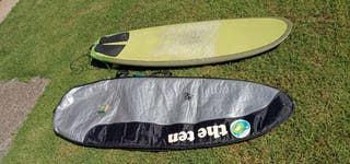 Tabla surf 6'3'' con funda e invento