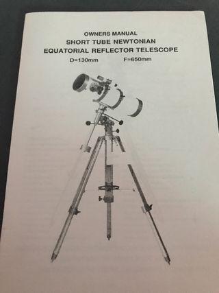 Telescopio Reflector ecuatorial D=130mm F=650