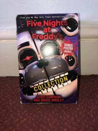 Five nights at freddys book and bookmark