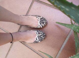 Manoletinas bailarinas leopardo