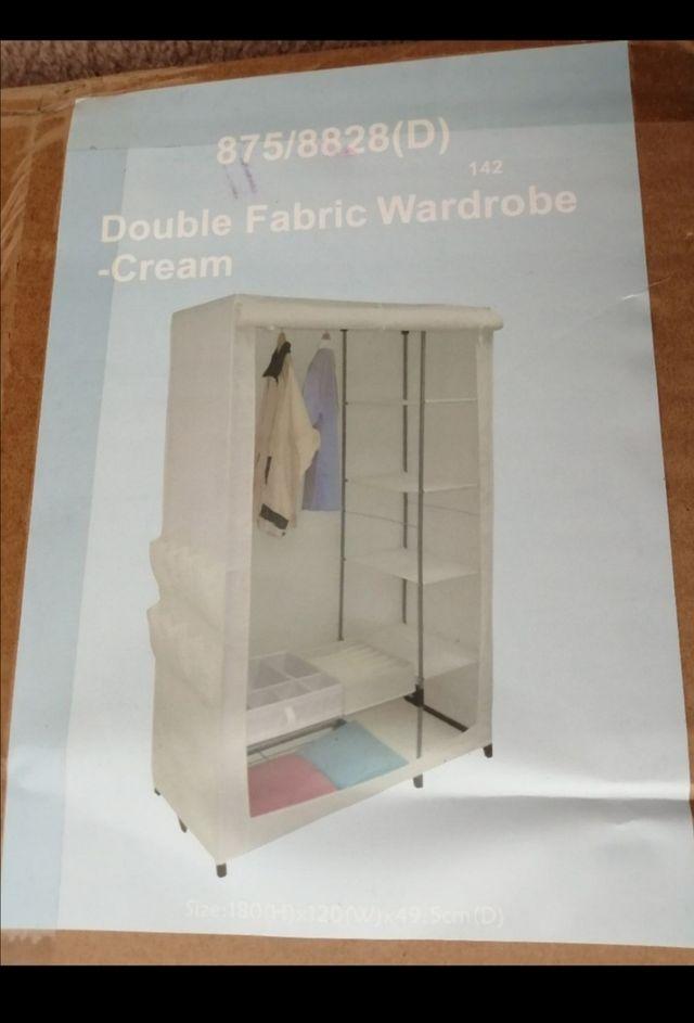 Double fabric wardrobe ~ cream