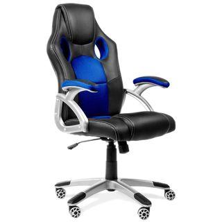 Silla Oficina/Despacho (Azul y Negro)