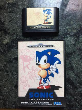 Sonic 1 Mega drive (caja y cartucho)