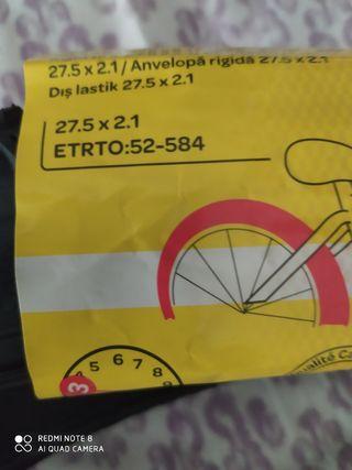 Neumático bicicleta rígido 27'5 x 2'1 nuevo