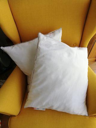2 Rellenos de cojín o almohada ikea 50x60cm