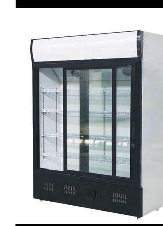 Armario expositor refrigerado de 2 puertas correde