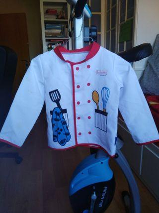 Disfraz de cocinero (chaquetilla).
