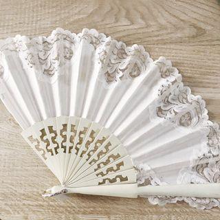 Abanico blanco novia