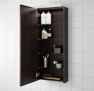 Muebles a pared para baño