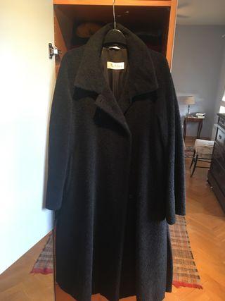 Abrigo negro alpaca