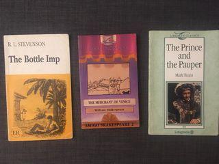 Tres libros inglés niños