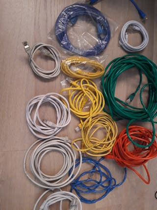 LOTE CABLES RED ETHERNET VARIAS LONGITUDES COLORES