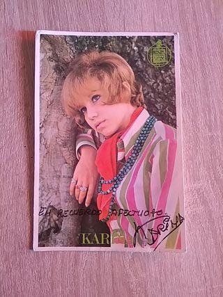 postal foto Karina firmada