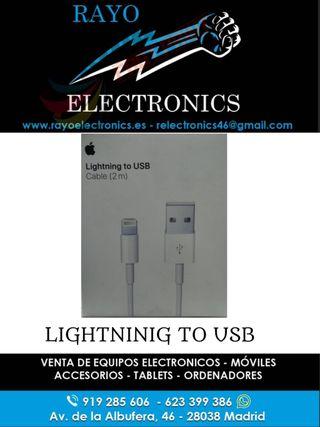 APPLE LIGHTNING TO USB CABLE 2M NUEVO PRECINTADO