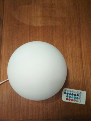 lampara bola LED colores