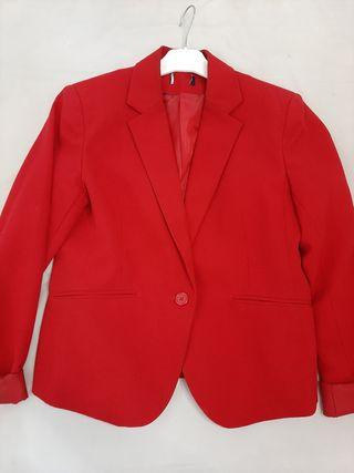 Chaqueta blazer rojo Granate,talla 40
