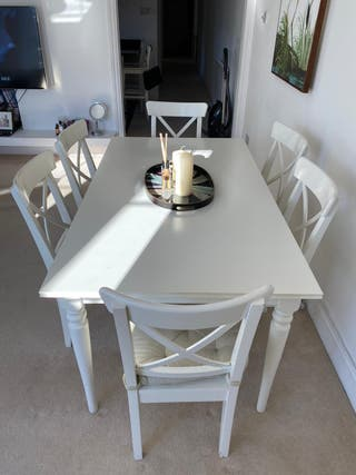 IKEA INGATORP TABLE WITH 6 CHAIRS