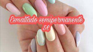 Esmaltado semipermanente uñas