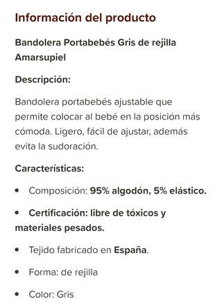 Bandolera portabebés Amarsupiel