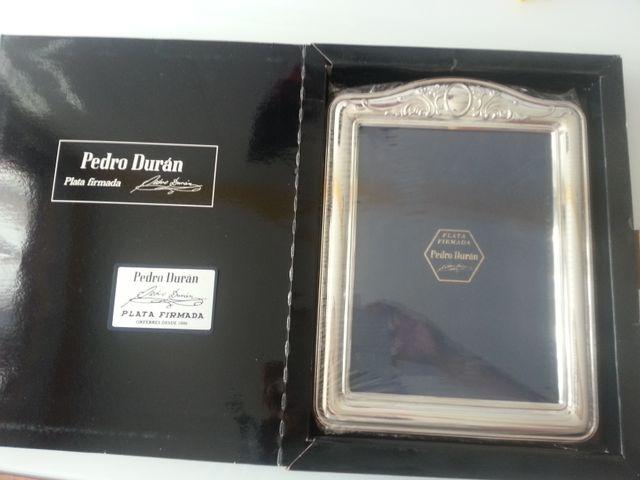 Marco de PLATA de PEDRO DURAN. NUEVO.PRECINTADO