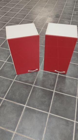 Mueble Armarios Rojos