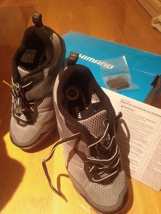 zapatillas calas Shimano MTB